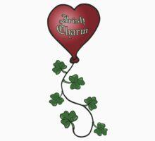 Irish Charm Shamrock String Heart Balloon One Piece - Short Sleeve