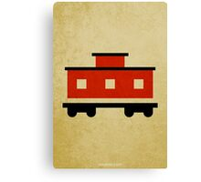The Little Red Caboose w/o Title Canvas Print