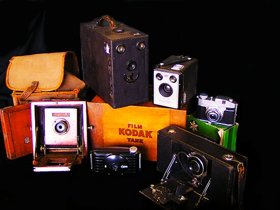 Grandpa's camera collection by Chris Brunton