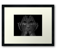 Surrealism: Peekaboo!! I see you Framed Print