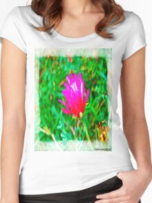 Color flower Women's Fitted Scoop T-Shirt