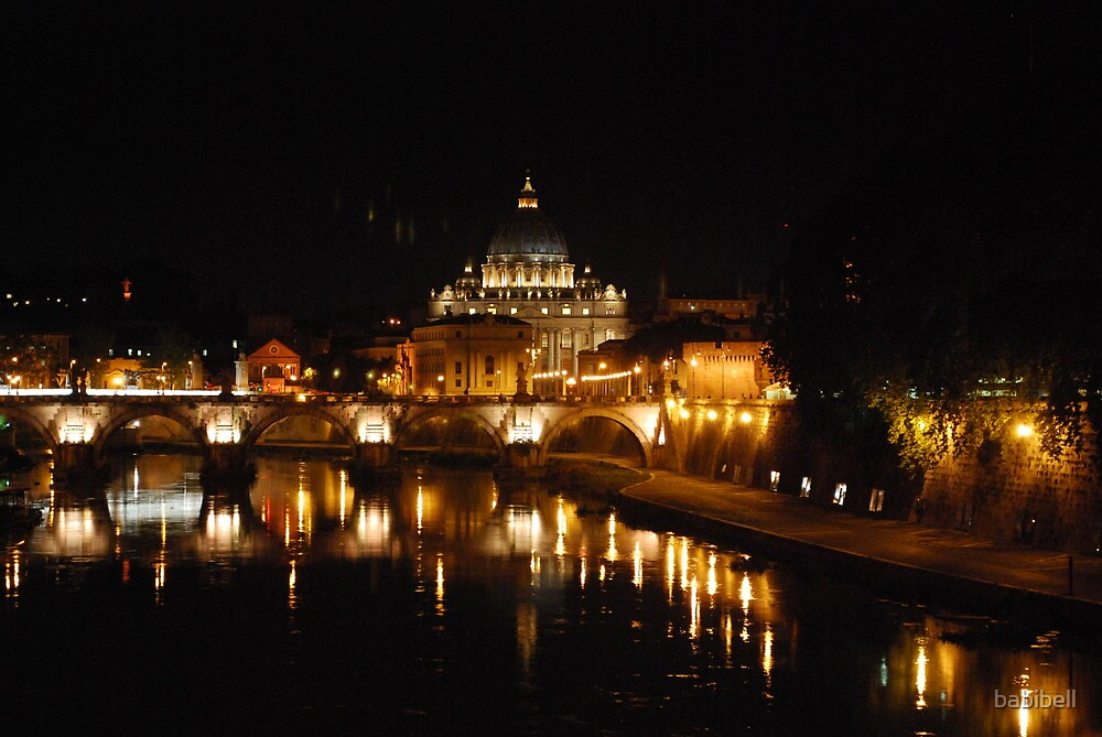 St Peter's, Rome, at Night by Claire Dimond