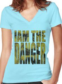 """Walter """"Danger"""" White V.2 Women's Fitted V-Neck T-Shirt"""