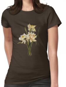 Double Narcissi In A Bouquet Isolated Womens Fitted T-Shirt