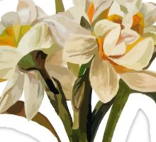 Double Narcissi In A Bouquet Isolated Sticker