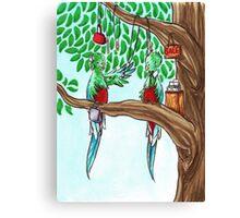 Shopping Quetzals Canvas Print
