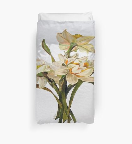 Double Narcissi In A Bouquet Duvet Cover