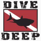Shark SCUBA Flag by SportsT-Shirts