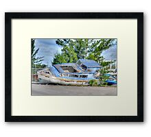 Waiting for the next trip... Framed Print