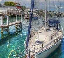 Boat docked at the marina in Nassau, The Bahamas by 242Digital