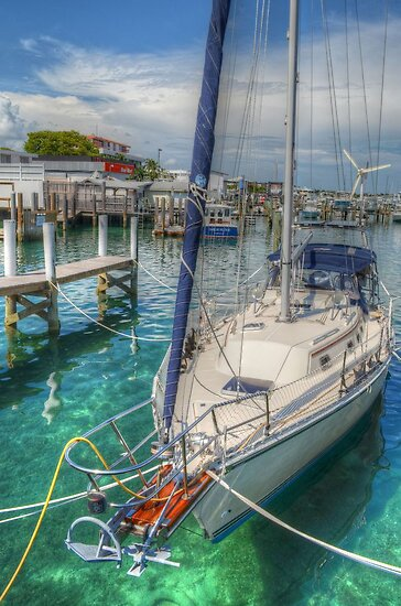 Boat docked at the marina in Nassau, The Bahamas by 242Digital