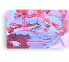 Watercolor Hand Painted Abstract Blue Purple Red Background Canvas Print