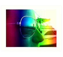 Rainbow Shades Art Print