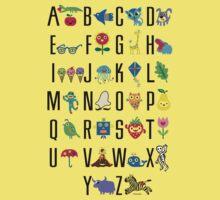 Alphabet Cute  Baby Tee
