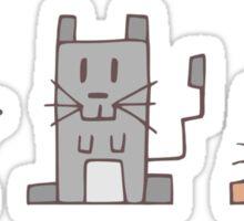 Gerbil Shapes  Sticker