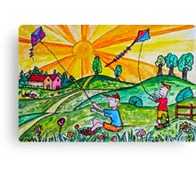 Kite Flying Canvas Print