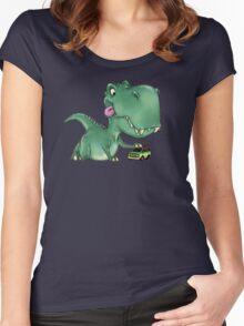Playful Rex Women's Fitted Scoop T-Shirt