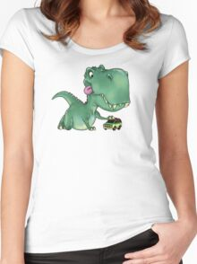 Playful Rex Women's Fitted Scoop T-Shirt