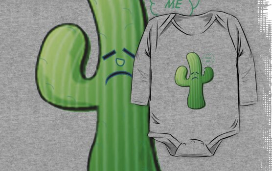Cactus Caricature With Hug Me Caption  by taiche