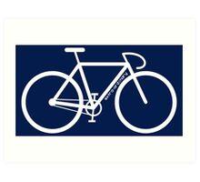 White Bike Silhouette Art Print