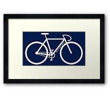 White Bike Silhouette Framed Print