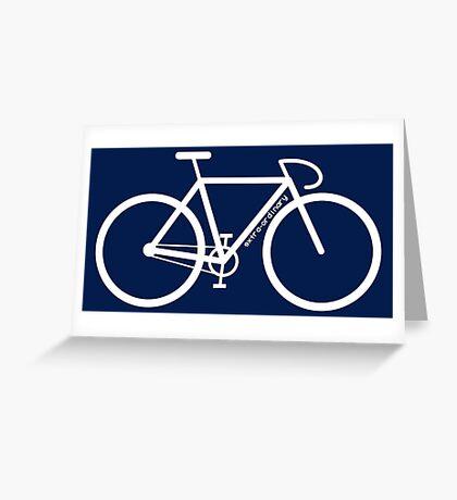 White Bike Silhouette Greeting Card