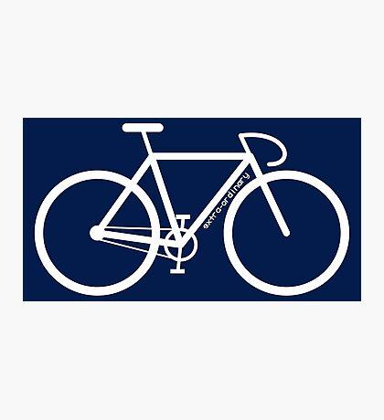 White Bike Silhouette Photographic Print
