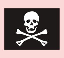 Skull And Crossbones Black Pirate Flag Kids Clothes