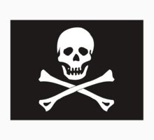 Skull And Crossbones Black Pirate Flag Kids Clothes
