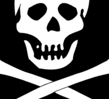 Skull And Crossbones Black Pirate Flag Sticker