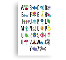 Alphabet Cute  Canvas Print