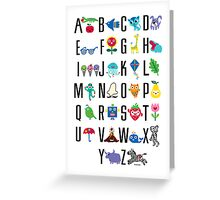 Alphabet Cute  Greeting Card