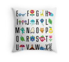 Alphabet Cute  Throw Pillow