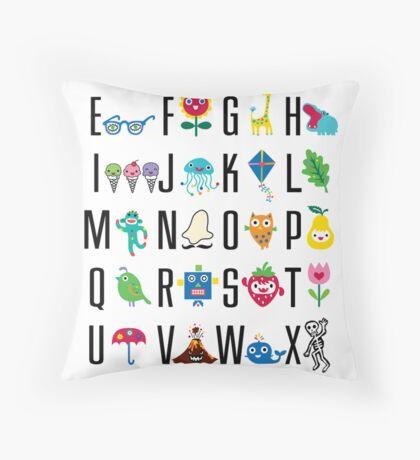Alphabet Cute  Throw Pillow