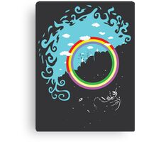 Somewhere under then rainbow Canvas Print
