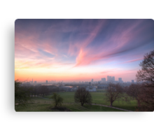 The Lavendar Skies of London Canvas Print