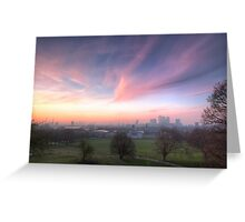 The Lavendar Skies of London Greeting Card