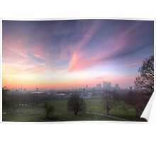 The Lavendar Skies of London Poster