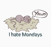 I Hate Mondays Gerbil by hybridwing
