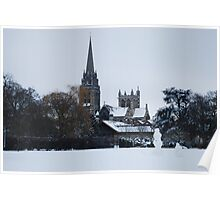 Our Lady and the English Martyrs Church in the Snow Poster