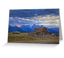 Last rays of sunlight at Grand Teton National Park Greeting Card