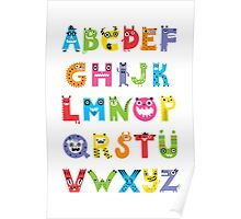 Alphabet Monsters poster Poster