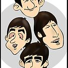 Beatles by Cartoonsbymark