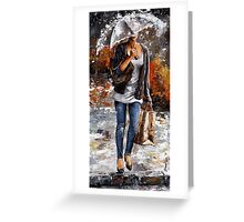 Rainy day - Woman of New York /06 Greeting Card