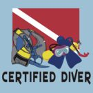 Certified SCUBA Diver by SportsT-Shirts