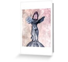 Winged Robot of Victory Greeting Card