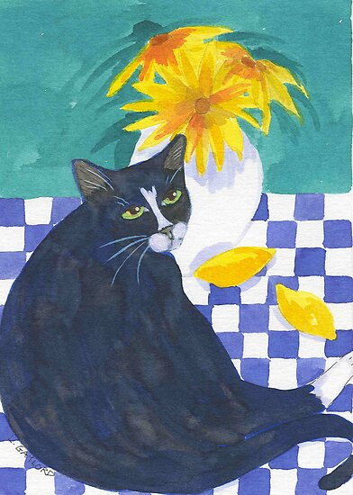 Still Life with Cat and Lemons by studiololo