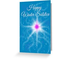 Winter Solstice - pink star in the night Greeting Card