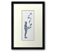 Tiled Juggler Framed Print