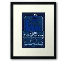 C is for Cutting Education Framed Print